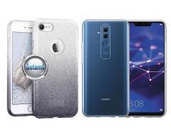 iLLuminaTe silikoninis dėklas nugarėlė Huawei Mate 20 Lite telefonams sidabro spalvos