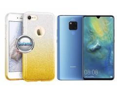 iLLuminaTe silikoninis dėklas nugarėlė Huawei Mate 20 telefonams aukso spalvos