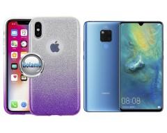 iLLuminaTe silikoninis dėklas nugarėlė Huawei Mate 20 telefonams violetinės spalvos