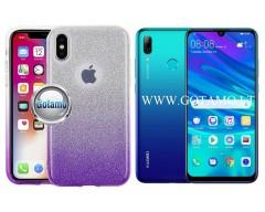 iLLuminaTe silikoninis dėklas nugarėlė Huawei P Smart (2019) telefonams violetinės spalvos