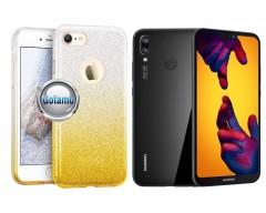 iLLuminaTe silikoninis dėklas nugarėlė Huawei P20 Lite telefonams aukso spalvos
