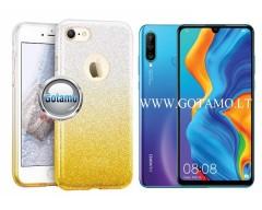 iLLuminaTe silikoninis dėklas nugarėlė Huawei P30 Lite telefonams aukso spalvos