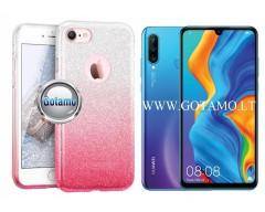 iLLuminaTe silikoninis dėklas nugarėlė Huawei P30 Lite telefonams rožinės spalvos