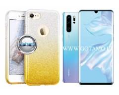 iLLuminaTe silikoninis dėklas nugarėlė Huawei P30 Pro telefonams aukso spalvos
