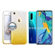 iLLuminaTe silikoninis dėklas nugarėlė Huawei P30 telefonams aukso spalvos Vilnius | Kaunas | Telšiai