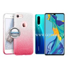 iLLuminaTe silikoninis dėklas nugarėlė Huawei P30 telefonams rožinės spalvos