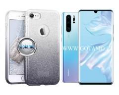 iLLuminaTe silikoninis dėklas nugarėlė Huawei P30 telefonams sidabro spalvos