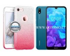 iLLuminaTe silikoninis dėklas nugarėlė Huawei Y5 (2019) Huawei Honor 8S telefonams rožinės spalvos