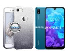 iLLuminaTe silikoninis dėklas nugarėlė Huawei Y5 (2019) Huawei Honor 8S telefonams sidabro spalvos