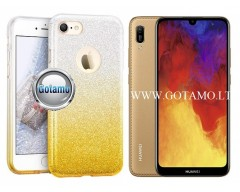 iLLuminaTe silikoninis dėklas nugarėlė Huawei Y6 (2019) Huawei Honor 8A telefonams aukso spalvos