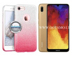 iLLuminaTe silikoninis dėklas nugarėlė Huawei Y6 (2019) Huawei Honor 8A telefonams rožinės spalvos