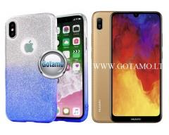 iLLuminaTe silikoninis dėklas nugarėlė Huawei Y6 (2019) Huawei Honor 8A telefonams žydros spalvos