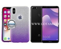 iLLuminaTe silikoninis dėklas nugarėlė Huawei Y7 (2018) Huawei Honor 7C telefonams violetinės spalvos