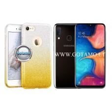 iLLuminaTe silikoninis dėklas nugarėlė Samsung Galaxy A20e telefonams aukso spalvos