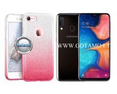 iLLuminaTe silikoninis dėklas nugarėlė Samsung Galaxy A20e telefonams rožinės spalvos