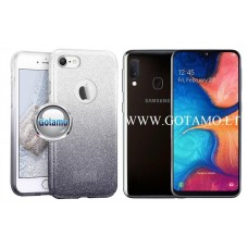 iLLuminaTe silikoninis dėklas nugarėlė Samsung Galaxy A20e telefonams sidabro spalvos Vilnius | Plungė | Vilnius