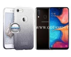iLLuminaTe silikoninis dėklas nugarėlė Samsung Galaxy A20e telefonams sidabro spalvos