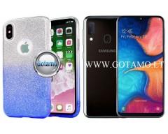 iLLuminaTe silikoninis dėklas nugarėlė Samsung Galaxy A20e telefonams žydros spalvos