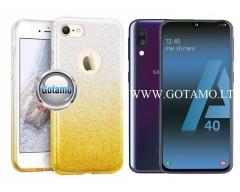 iLLuminaTe silikoninis dėklas nugarėlė Samsung Galaxy A40 telefonams aukso spalvos
