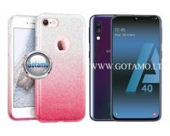 iLLuminaTe silikoninis dėklas nugarėlė Samsung Galaxy A40 telefonams rožinės spalvos