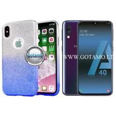 iLLuminaTe silikoninis dėklas nugarėlė Samsung Galaxy A40 telefonams žydros spalvos Šiauliai | Telšiai | Kaunas
