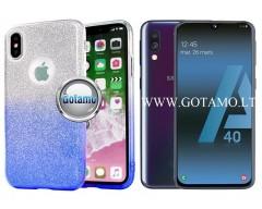 iLLuminaTe silikoninis dėklas nugarėlė Samsung Galaxy A40 telefonams žydros spalvos