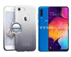 iLLuminaTe silikoninis dėklas nugarėlė Samsung Galaxy A50 telefonams sidabro spalvos