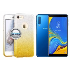 iLLuminaTe silikoninis dėklas nugarėlė Samsung Galaxy A7 (2018) telefonams aukso spalvos