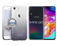 iLLuminaTe silikoninis dėklas nugarėlė Samsung Galaxy A70 telefonams sidabro spalvos