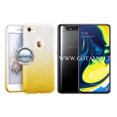 iLLuminaTe silikoninis dėklas nugarėlė Samsung Galaxy A80 telefonams aukso spalvos