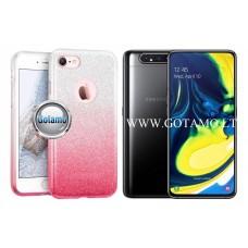 iLLuminaTe silikoninis dėklas nugarėlė Samsung Galaxy A80 telefonams rožinės spalvos