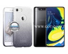 iLLuminaTe silikoninis dėklas nugarėlė Samsung Galaxy A80 telefonams sidabro spalvos