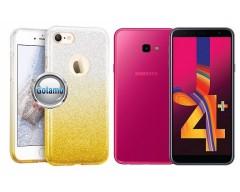 iLLuminaTe silikoninis dėklas nugarėlė Samsung Galaxy J4+ (2018) telefonams aukso spalvos