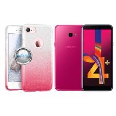 iLLuminaTe silikoninis dėklas nugarėlė Samsung Galaxy J4+ (2018) telefonams rožinės spalvos