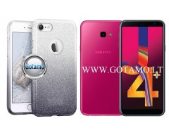 iLLuminaTe silikoninis dėklas nugarėlė Samsung Galaxy J4+ (2018) telefonams sidabro spalvos