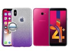 iLLuminaTe silikoninis dėklas nugarėlė Samsung Galaxy J4+ (2018) telefonams violetinės spalvos