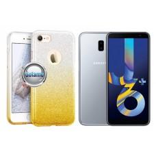 iLLuminaTe silikoninis dėklas nugarėlė Samsung Galaxy J6+ (2018) telefonams aukso spalvos