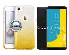iLLuminaTe silikoninis dėklas nugarėlė Samsung Galaxy J6 (2018) telefonams aukso spalvos
