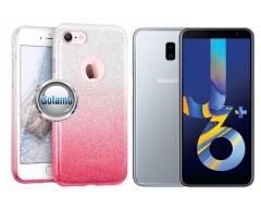 iLLuminaTe silikoninis dėklas nugarėlė Samsung Galaxy J6+ (2018) telefonams rožinės spalvos