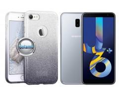 iLLuminaTe silikoninis dėklas nugarėlė Samsung Galaxy J6+ (2018) telefonams sidabro spalvos
