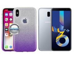 iLLuminaTe silikoninis dėklas nugarėlė Samsung Galaxy J6+ (2018) telefonams violetinės spalvos