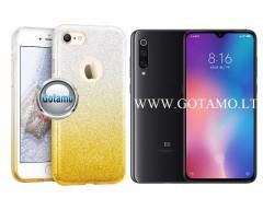 iLLuminaTe silikoninis dėklas nugarėlė Xiaomi Mi 9 telefonams aukso spalvos