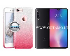 iLLuminaTe silikoninis dėklas nugarėlė Xiaomi Mi 9 telefonams rožinės spalvos