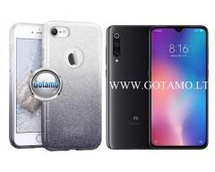 iLLuminaTe silikoninis dėklas nugarėlė Xiaomi Mi 9 telefonams sidabro spalvos
