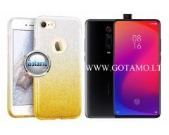 iLLuminaTe silikoninis dėklas nugarėlė Xiaomi Mi 9T, Xiaomi Redmi K20 telefonams aukso spalvos