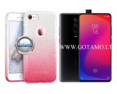 iLLuminaTe silikoninis dėklas nugarėlė Xiaomi Mi 9T, Xiaomi Redmi K20 telefonams rožinės spalvos