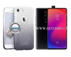 iLLuminaTe silikoninis dėklas nugarėlė Xiaomi Mi 9T, Xiaomi Redmi K20 telefonams sidabro spalvos