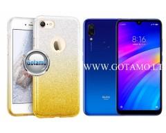 iLLuminaTe silikoninis dėklas nugarėlė Xiaomi Redmi 7 telefonams aukso spalvos