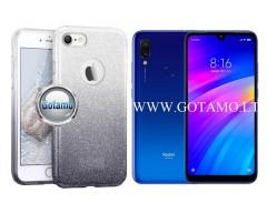 iLLuminaTe silikoninis dėklas nugarėlė Xiaomi Redmi 7 telefonams sidabro spalvos