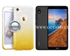 iLLuminaTe silikoninis dėklas nugarėlė Xiaomi Redmi 7A telefonams aukso spalvos